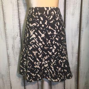 Ann Taylor Patterned Skirt 8